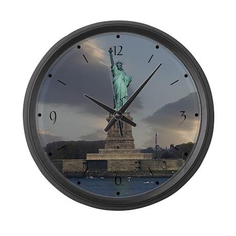 Liberty Clouds Large Wall Clock