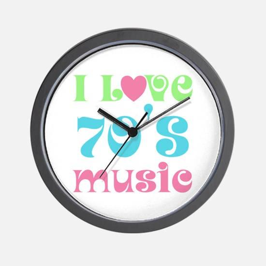 I Love 70's Music Wall Clock