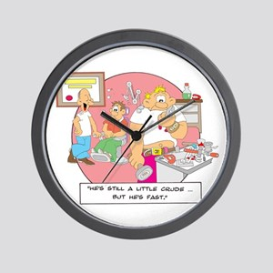 ... but he's fast. Wall Clock