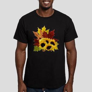 Fall Bouquet Men's Fitted T-Shirt (dark)