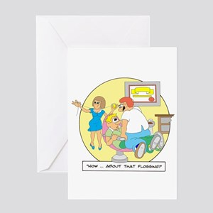 Now ... about that flossing. Greeting Card