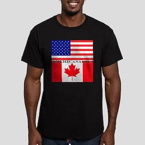 AMERICanadian Men's Fitted T-Shirt (dark)