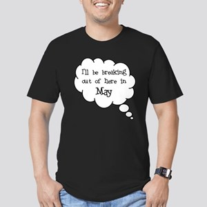 """""""Breaking Out May"""" Men's Fitted T-Shirt (dark)"""