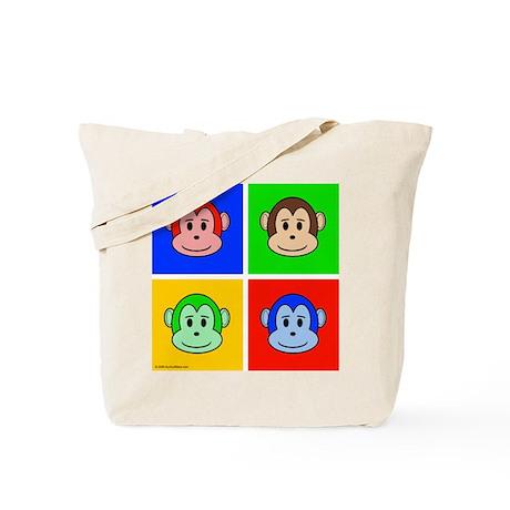 Andy Warhol like monkey design Tote Bag