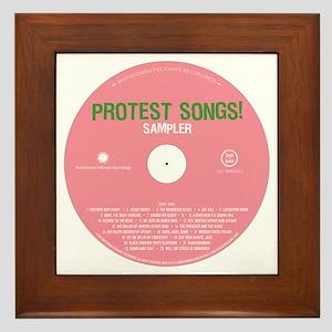 Protest Songs Framed Tile