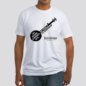 Pete Seeger Fitted T-Shirt