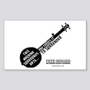Pete Seeger Rectangle Sticker