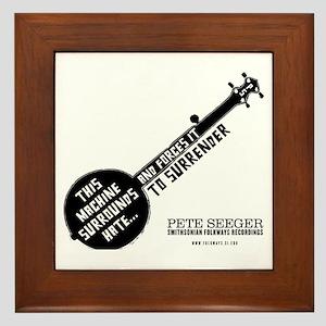 Pete Seeger Framed Tile