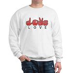 Captioned LOVE Sweatshirt
