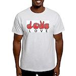 Captioned LOVE Ash Grey T-Shirt