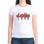 Captioned LOVE Jr. Ringer T-Shirt