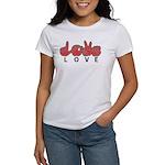 Captioned LOVE Women's T-Shirt