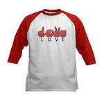 Captioned LOVE Kids Baseball Jersey