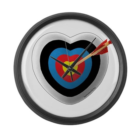 Archery Love 2 Large Wall Clock