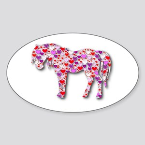 The Original Heart Horse Sticker (Oval)