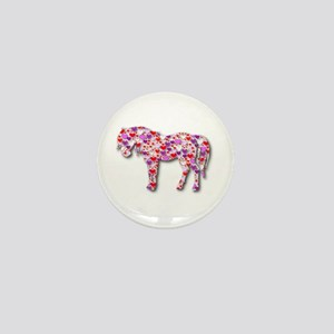 The Original Heart Horse Mini Button