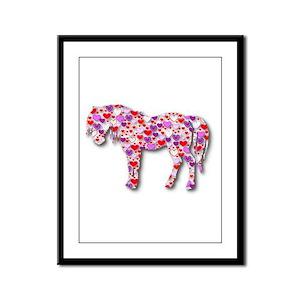 The Original Heart Horse Framed Panel Print