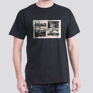 1951 Pontchartrain Beach Ad Black T-Shirt