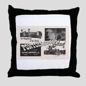 1951 Pontchartrain Beach Ad Throw Pillow