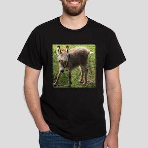 Baby Donkey Wobbly Black T-Shirt