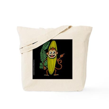 Banana Monkey Tote Bag