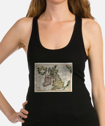 Vintage Map of The British Isles (1596) Tank Top