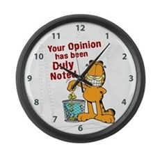 Duly Noted Large Wall Clock