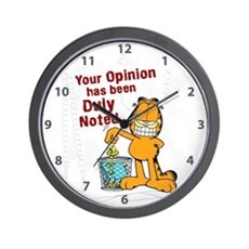 Duly Noted Wall Clock