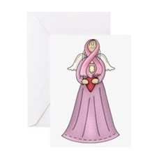 Breast Cancer Awareness Angel Greeting Card