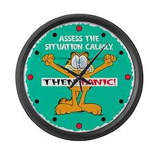 Then Panic Large Wall Clock