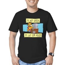 It's Not Logical Men's Fitted T-Shirt (dark)