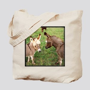 Two Baby Donkeys Tote Bag