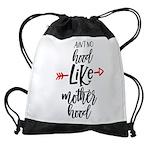 No hood like motherhood Drawstring Bag