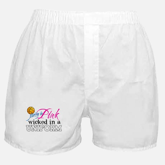 Pretty In Pink Basketball Boxer Shorts