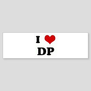I Love DP Bumper Sticker