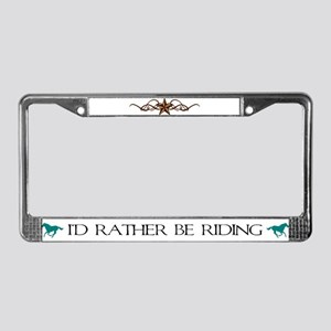 Rustic Star License Plate Frame
