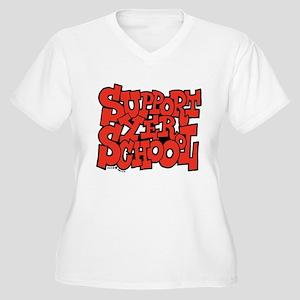 Support Yer Schoool Women's Plus Size V-Neck T-Shi