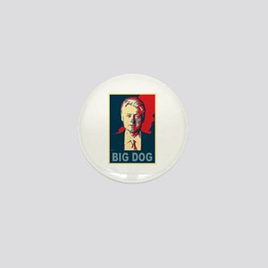 Bill Clinton Big Dog Pop Art Mini Button
