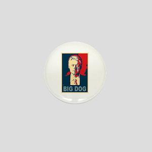 Bill Clinton Big Dog Pop Art Mini Button