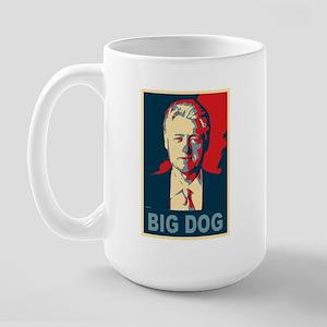 Bill Clinton Big Dog Pop Art Large Mug