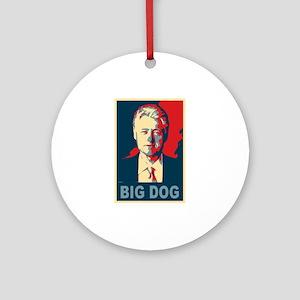 Bill Clinton Big Dog Pop Art Ornament (Round)