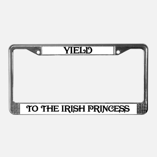 Yield to the Irish Princess License Plate Frame