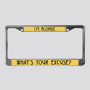 I'm Blonde License Plate Frame