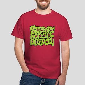 Support Yer Schoool Dark T-Shirt