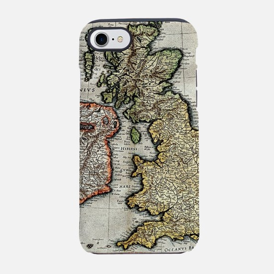 Vintage Map of The British Isl iPhone 7 Tough Case