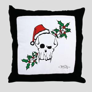 Santa Skull Throw Pillow