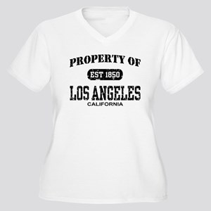 Property of Los Angeles Women's Plus Size V-Neck T