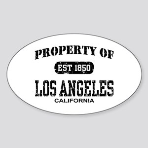 Property of Los Angeles Oval Sticker