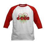 Love with Heart Kids Baseball Jersey