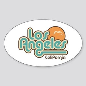 Los Angeles California Oval Sticker